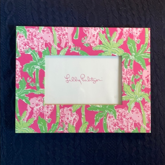 Lilly Pulitzer Pink and Green Elephant Photo Frame